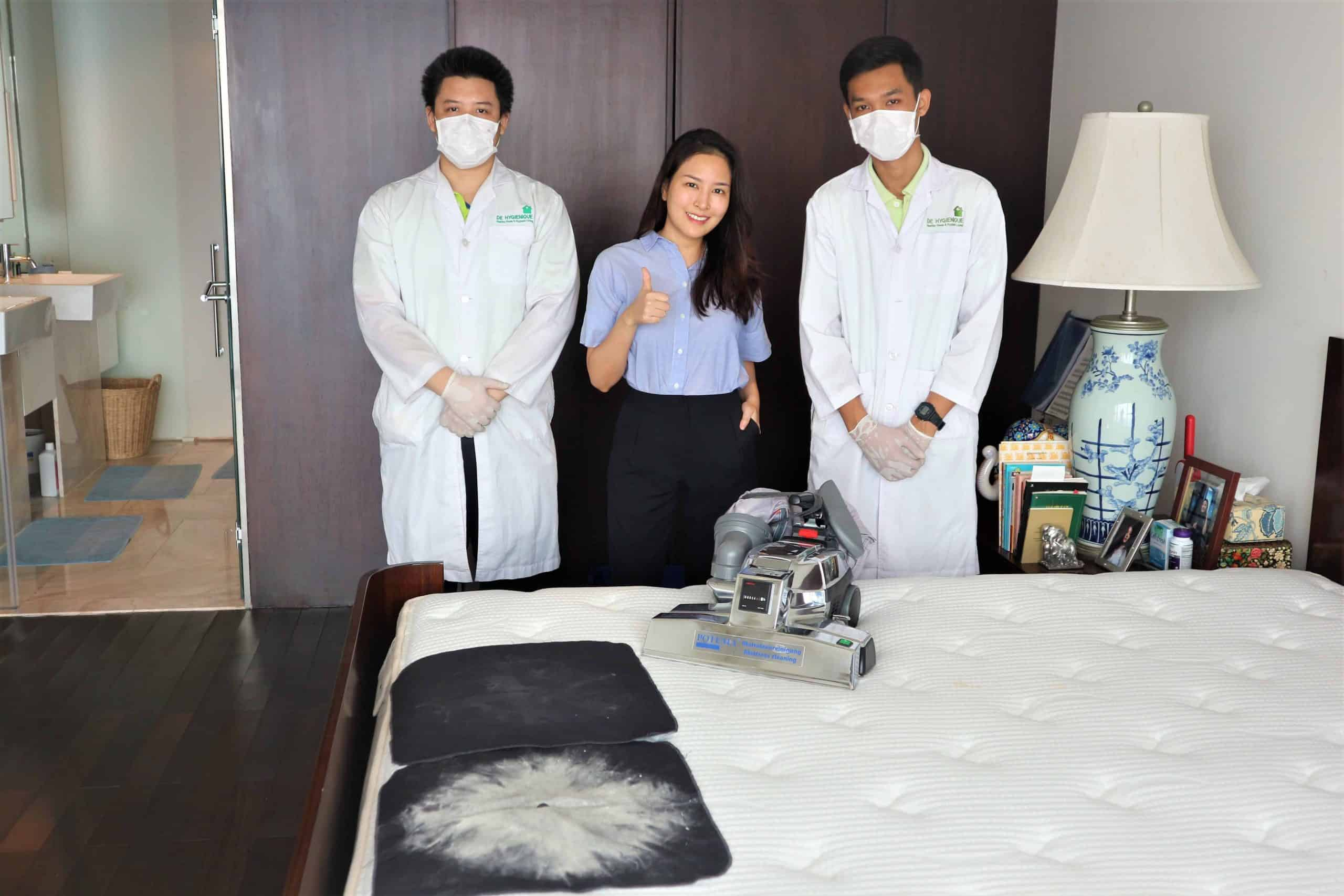 บริการทำความสะอาดพร้อมฆ่าเชื้อโรคบนที่นอน